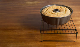 Bundt cake cooling  with Copy Space Stock Photos