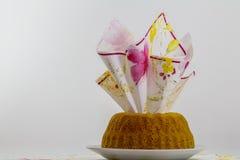 Bundt cake decorated Royalty Free Stock Image