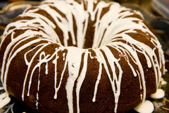 Bundt Cake with Icing Royalty Free Stock Photos