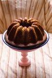 Bundt cake. Simple vegan cake with Bundt shape stock photography