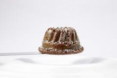 Bundt cake. Small bundt cake white background Royalty Free Stock Photography
