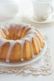 Bundt Cake  with Sugar Glaze Royalty Free Stock Image