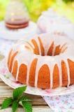 Bundt Cake Topped with Sugar Glaze Royalty Free Stock Photography