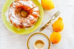 Bundt lemon cake Stock Photography