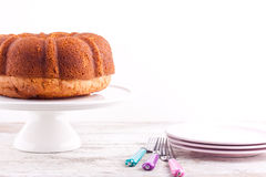 Bundt pound cake Stock Images
