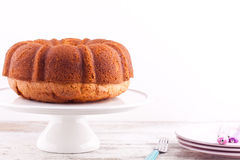 Bundt pound cake Royalty Free Stock Photos