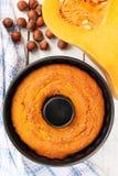 Bundt pumpkin pie Stock Images