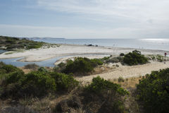 Bungalarivier, Normanville-Strand, Zuid-Australië Stock Afbeelding