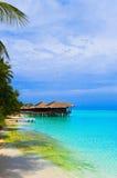 bungalowów wyspy tropikalna woda Obraz Royalty Free