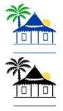 bungalowów znaki royalty ilustracja