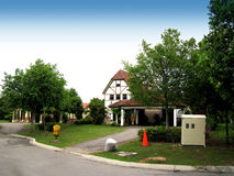 bungalow arkivfoton