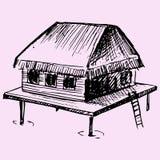 bungalow ilustración del vector