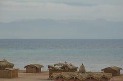Bungalow auf dem Strand Stockfoto