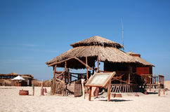 Bungalow on a beach Stock Image