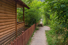 Bungalow. A beautiful wood bungalow in the forest Royalty Free Stock Photo