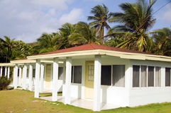 Bungalow cabanas rental  Sally Peach beach Big Corn Island Nicar Stock Image