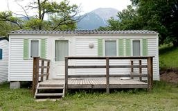 Bungalow at camping Stock Photo