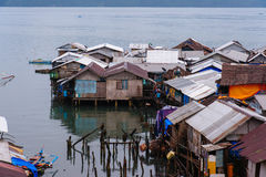 Bungalow in Coron-stad op Busuanga Stock Foto's