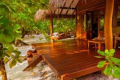 Bungalow da praia - Maldivas fotos de stock royalty free