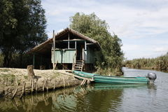 Bungalow in Danube Delta Royalty Free Stock Images