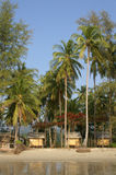 Bungalow della spiaggia di Clong Prao fotografia stock libera da diritti