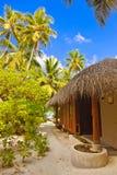 Bungalow della spiaggia - Maldive Fotografia Stock Libera da Diritti