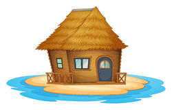 Bungalow on desert island Stock Photography