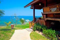 bungalow di Mare-vista Immagini Stock Libere da Diritti