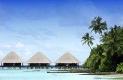 Bungalow di Overwater ai Maldives Fotografia Stock Libera da Diritti