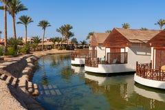 Bungalow. EL Gouna, Ägypten stockfotografie