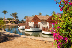 Bungalow. El Gouna, Egypt. Bungalow on a canal. El Gouna, Egypt, Red Sea Royalty Free Stock Photo