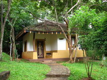 Bungalow in hotel on Sri Lanka Royalty Free Stock Images