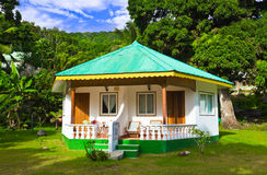 Bungalow in hotel at tropical beach Stock Photo