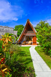 Bungalow in hotel at tropical beach Royalty Free Stock Image