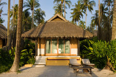 Bungalow in hotel at tropical beach. Vacation background. Thailand Royalty Free Stock Image