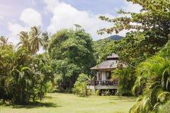 Bungalow i djungelträdgård Royaltyfria Bilder
