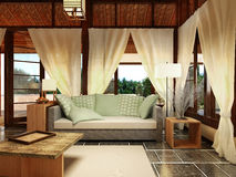 Bungalow Interior Design Royalty Free Stock Image