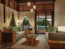 Bungalow Interior Design Stock Photo