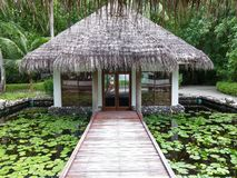 Bungalow. In the island Stock Image