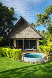 Bungalow and jacuzzi outdoor Stock Photography
