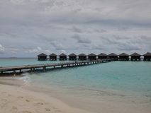Bungalow. On the Maldives Royalty Free Stock Image