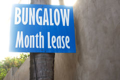 Bungalow month lease information Royalty Free Stock Photography