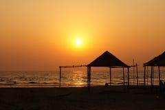 Bungalow na praia Imagem de Stock Royalty Free