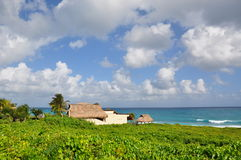 Bungalow at the ocean front, Isla Mujeres Royalty Free Stock Photo