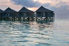 Bungalow op een tropisch eiland Royalty-vrije Stock Foto's