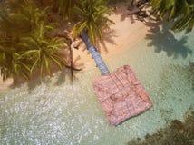 Bungalow på den karibiska ön Arkivbild