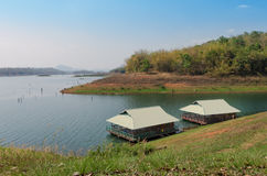 Bungalow in public park. Bungalow on the lake in public park at Kanchanaburi province Stock Photography