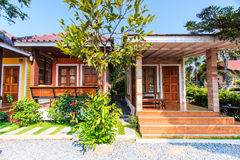 Bungalow at the resort Royalty Free Stock Photo