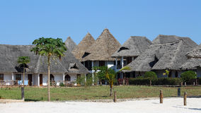 Bungalow resort in Zanzibar Stock Image