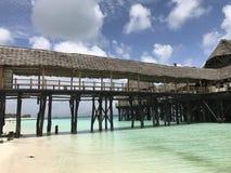 Bungalow rustico sui mari di Zanzibar Immagini Stock Libere da Diritti